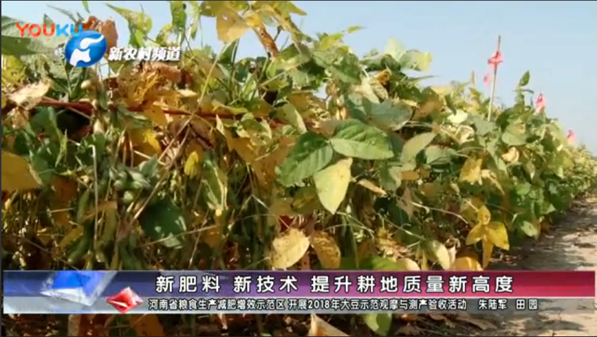 新肥料 新技术 提升耕地质量新高度--河南省粮食生产减肥增效示范区 开展2018年大豆示范观摩与测产验收活动 上传于 2018-09-30   乡村科技网 已订阅