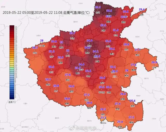 """""""太热了""""!河南发布今年首个高温预警,这几个地区飙至37°以上"""